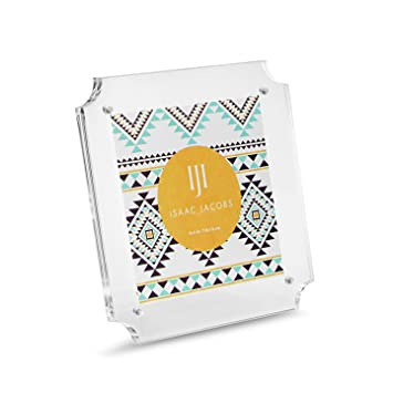 Amazon.com - Isaac Jacobs Magnetic Cut-Out Edge Acrylic Frame (4x4) -