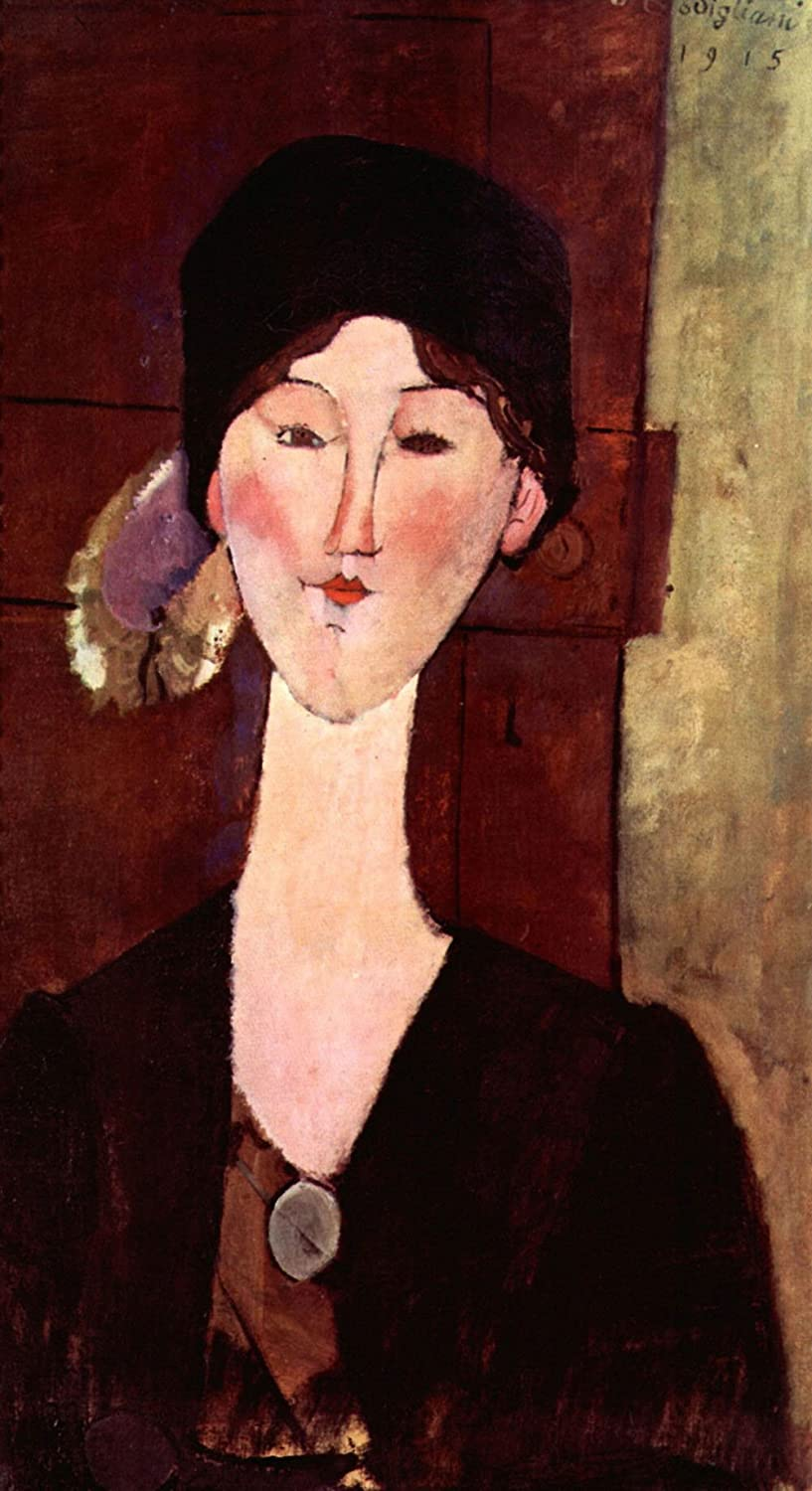 The Museum Outlet - Modigliani - Portrait of Beatrice Hastings - Canvas (24 x 18 Inch): Amazon.in: Electronics