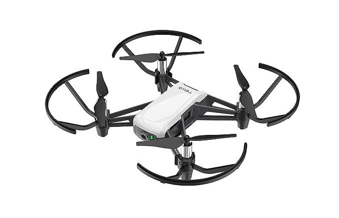 Ryze DJI Tello - Mini dron ideal para videos cortos con tomas EZ, gafas VR y compatibilidad con dispositivos de juego, transmisión HD de 720p y alcance de 100 metros