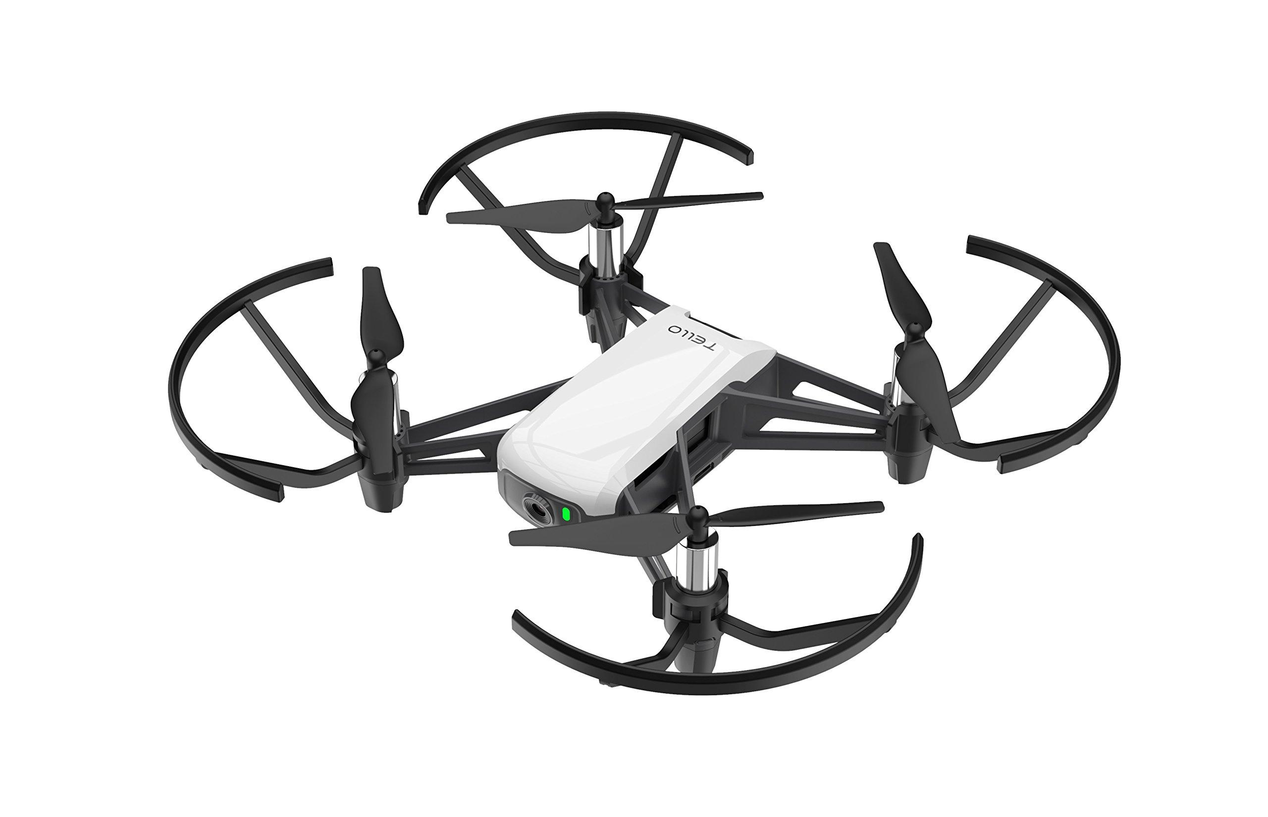 Immagine di Dji Ryze Tello Mini Drone Ottimo per Creare Video con Ez Shots, Occhiali Vr e Compatibilità con Controller di Gioco, Trasmissione HD a 720P e Raggio di 100 Metri, 5 MP, Edizione S - B078XV32CJ