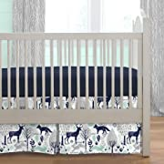 Carousel Designs Navy and Mint Woodlands 2-Piece Crib Bedding Set