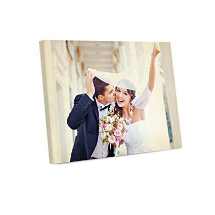 Amazon.com: Picture Wall Art Your Photo or Art on Custom Canvas ...