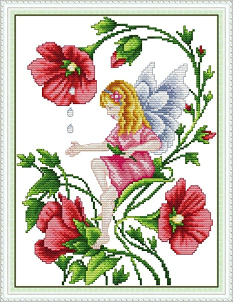 Maydear Cross Stitch Kits Stamped Full Range of Embroidery Kits for Beginner DIY