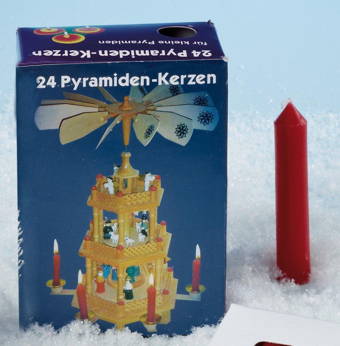 Saico Pyramide Bougie Lot de 24en rouge Petit 310431 263692