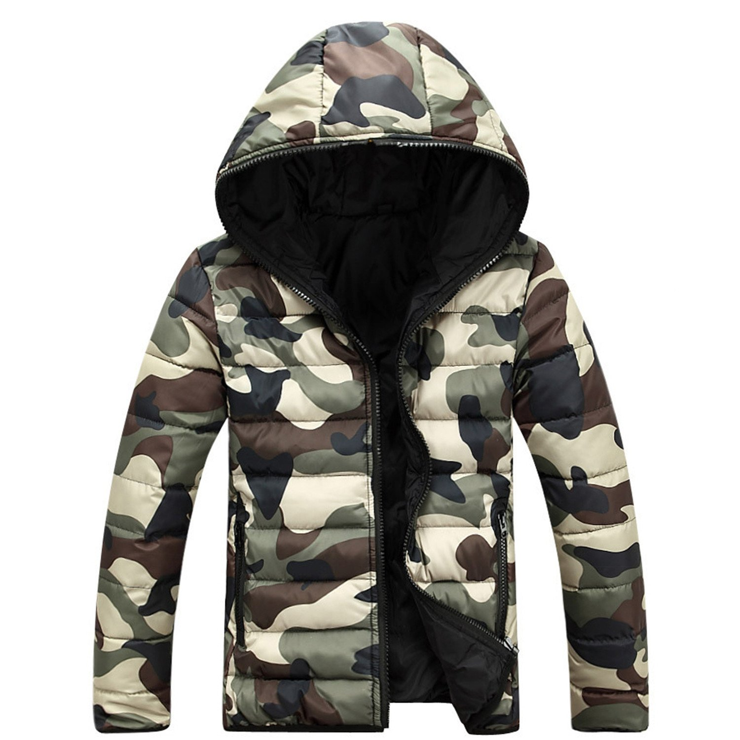 Amazon.com: Aarring Winter Jacket Men Camouflage Soft Shell ...
