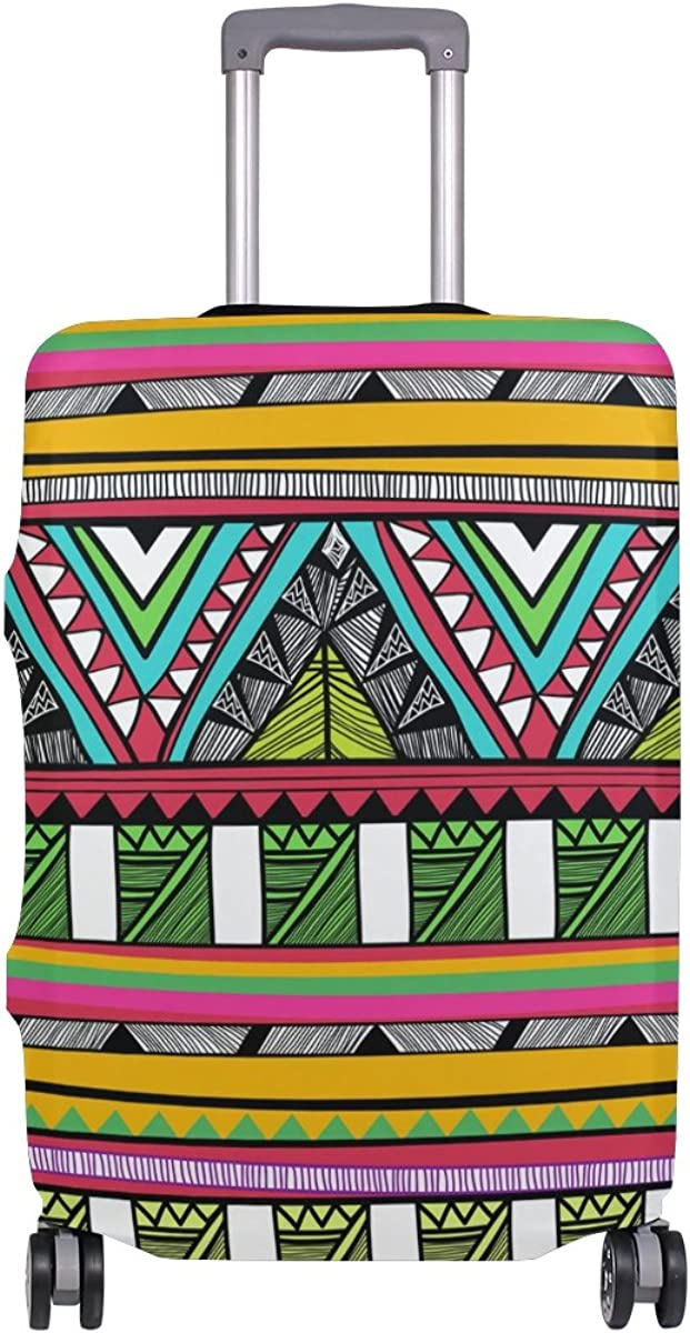 Elastic Travel Luggage Cover Vector Tribal Suitcase Protector for 18-20 Inch Luggage