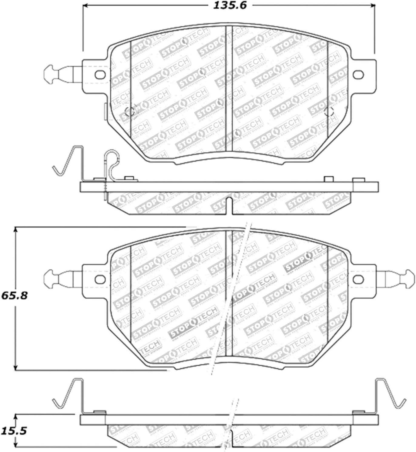 StopTech 309.09690 Street Performance Front Brake Pad