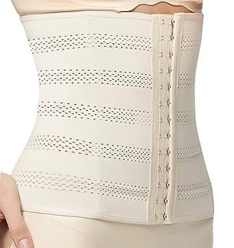 6c14ece518 Everbellus Women s Breathable Elastic Corset Waist Trainer Cincher Belt  Shapewear (Small