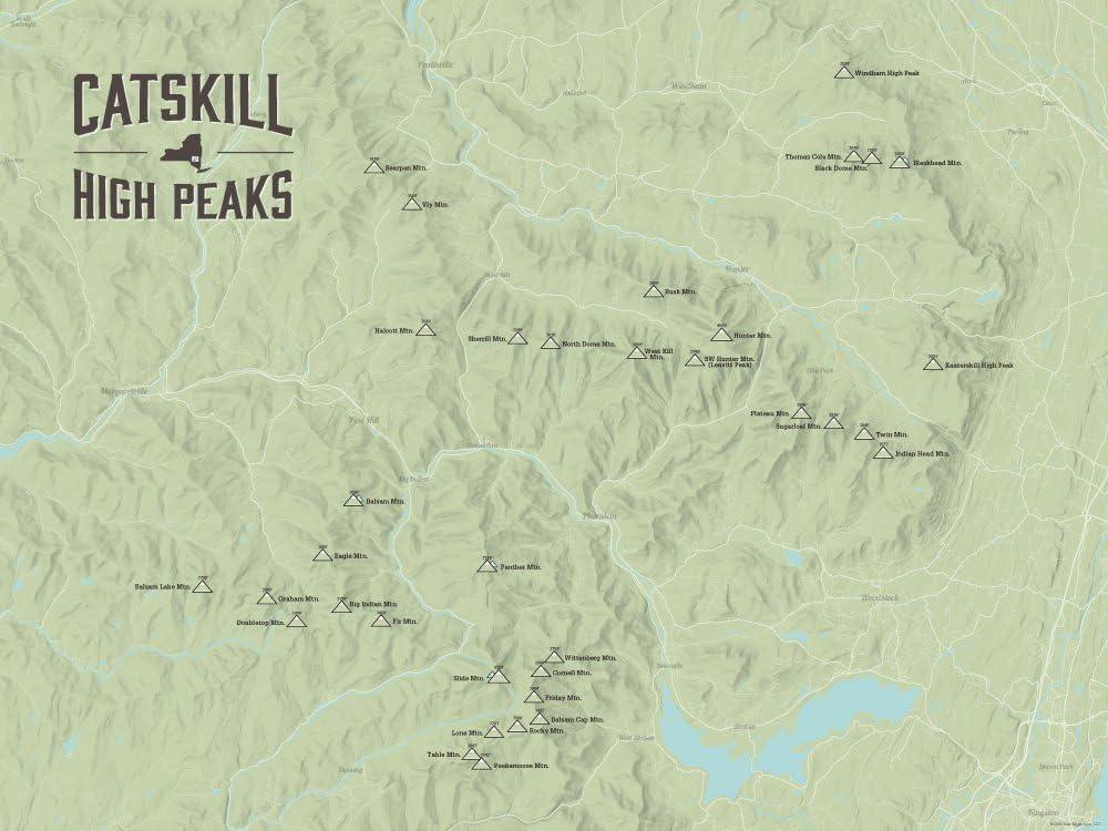 Catskill High Peaks map New York