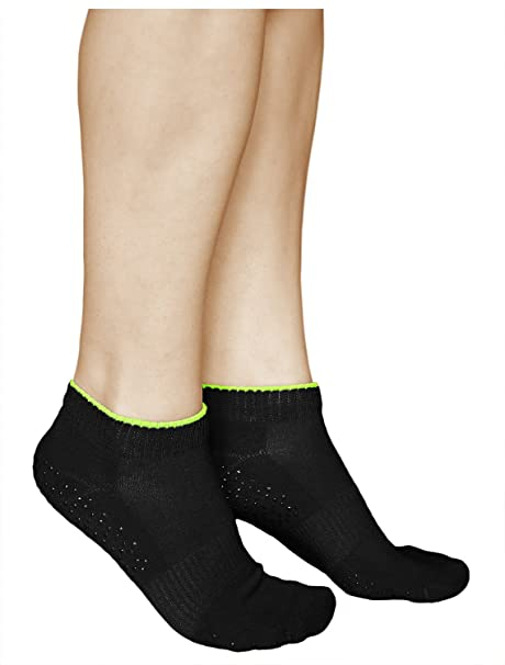 vitsocks Calcetines Antideslizantes Mujer (3 PARES) Suela Goma Deportivos para Yoga Pilates ALGODÓN: Amazon.es: Ropa y accesorios