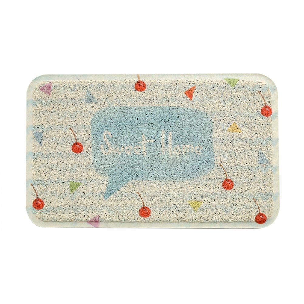 Cherry 45x120cm(18x47inch) Door mat,Front Door Rug Entrance Door mats Anti-Slipping mats Floor mat Easy Clean Home Decorative-Lemon Grass 80x120cm(31x47inch)