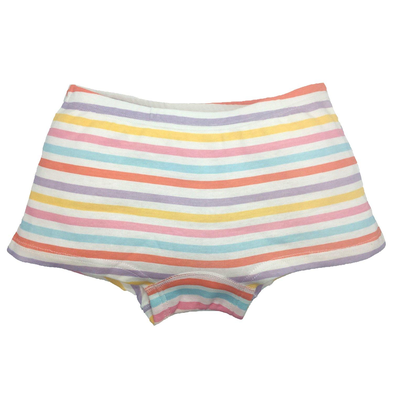 Cczmfeas Girls Boyshort Hipster Panties Cotton Kids Underwear Set (A-6 Pack, 6-8 Years) by Cczmfeas (Image #5)
