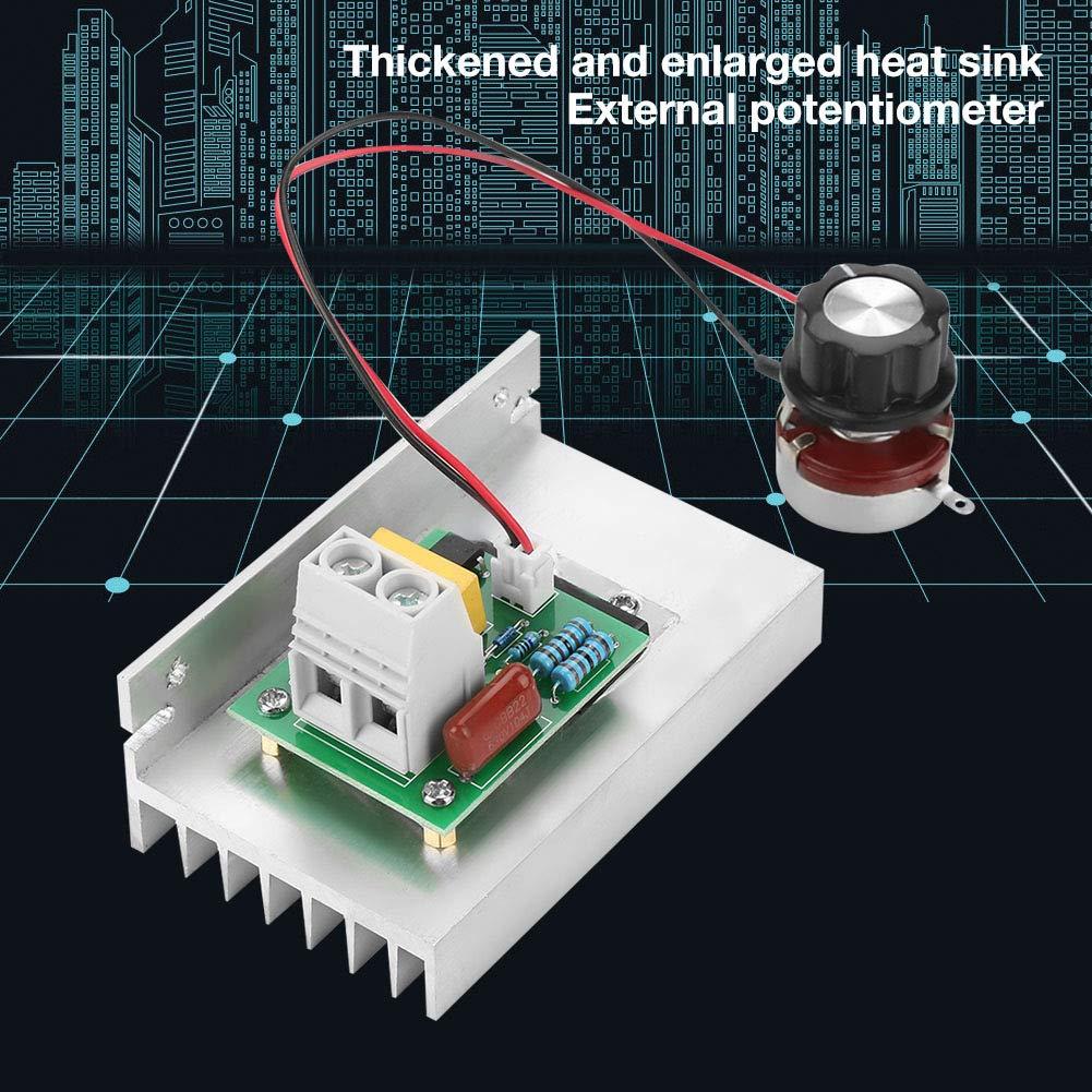 Controlador de velocidad del motor 10000 W AC 220 V SCR Regulador de voltaje el/éctrico Regulador de temperatura de velocidad del motor