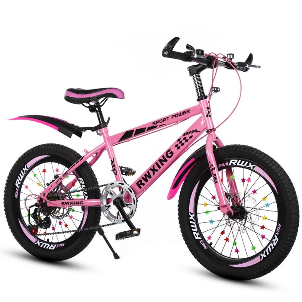 子供のスピードマウンテンバイク20/22インチディスクブレーキ自転車7-8-9-10-12-15歳小学校の自転車 ( 色 : ピンク ぴんく , サイズ さいず : 22 inches ) B07CNK5VWT 22 inches|ピンク ぴんく ピンク ぴんく 22 inches