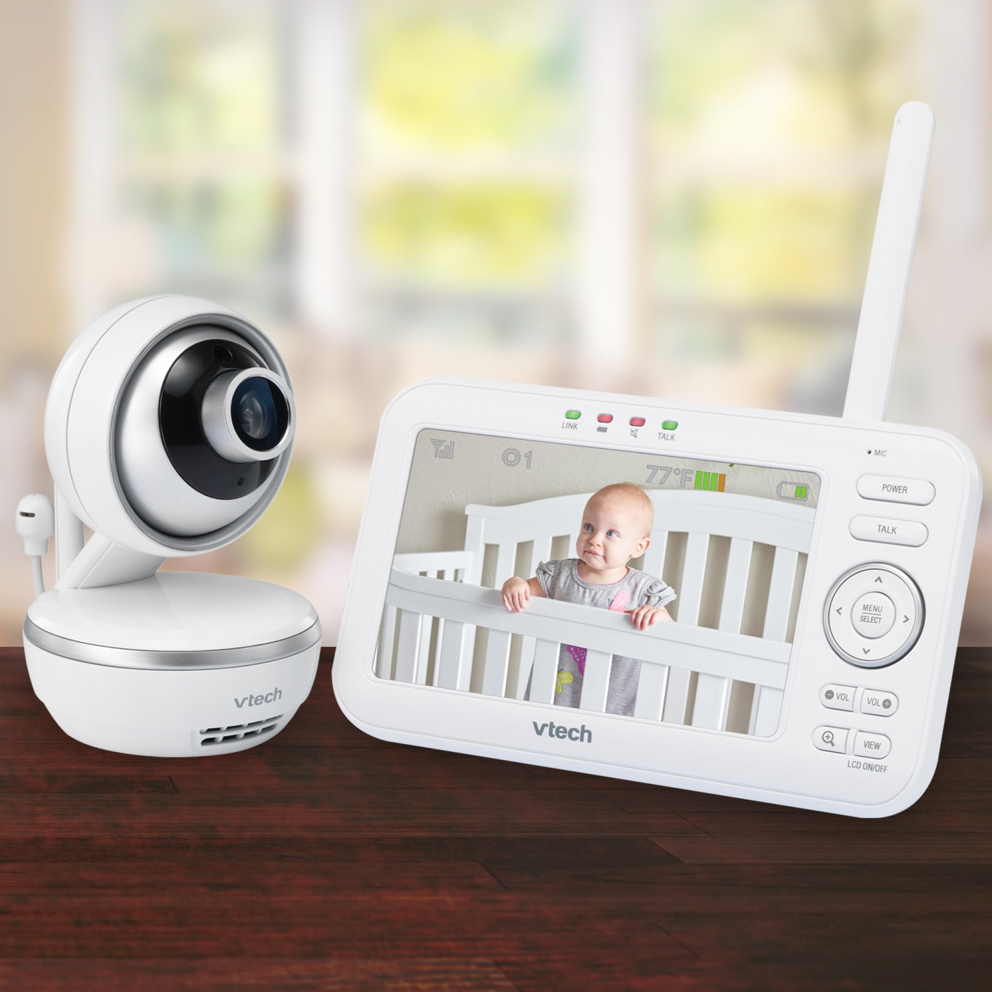 "VTech VM5261 5"" Digital Video Baby Monitor with Pan & Tilt Camera, Wide-Angle Lens and Standard Lens, White by VTech (Image #10)"