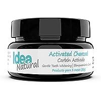 Blanqueador Dental Carbón Activado - IDEA NATURAL - 100% NATURAL - No OGM, Mejor que las tiras, Pasta de Dientes. Elimina las manchas y la placa (20g)