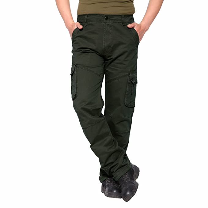 af204979b16 EKLENTSON Men s Tactical Pants Big and Tall Military Cargo Pants Work Pants  Army Green