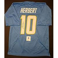 $490 » JUSTIN HERBERT Signed LOS ANGELES CHARGERS custom Jersey SZ XL.WITNESS BECKETT - Autographed NFL Jerseys