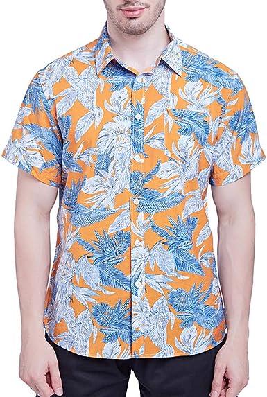Sencillo Vida Camisas de Hombre Impresión Hawaiana Verano Slim Fit Camisa Hombre Estampada De Manga Corta Casual Camisa Clásico Básico Botones para Playa Surf Vacaciones: Amazon.es: Ropa y accesorios