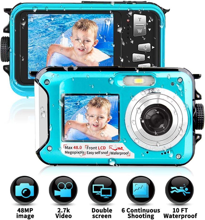 Camara Acuatica Sumergible 2.7K 1080P Full HD 24MP
