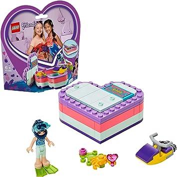 LEGO Friends - Caja Corazón de Verano de Emma, Juguete con Mini Muñeca de Construcción para Niñas y Niños a Partir de 6 Años, Incluye Figura de Cangrejo (41385): Amazon.es: Juguetes y juegos