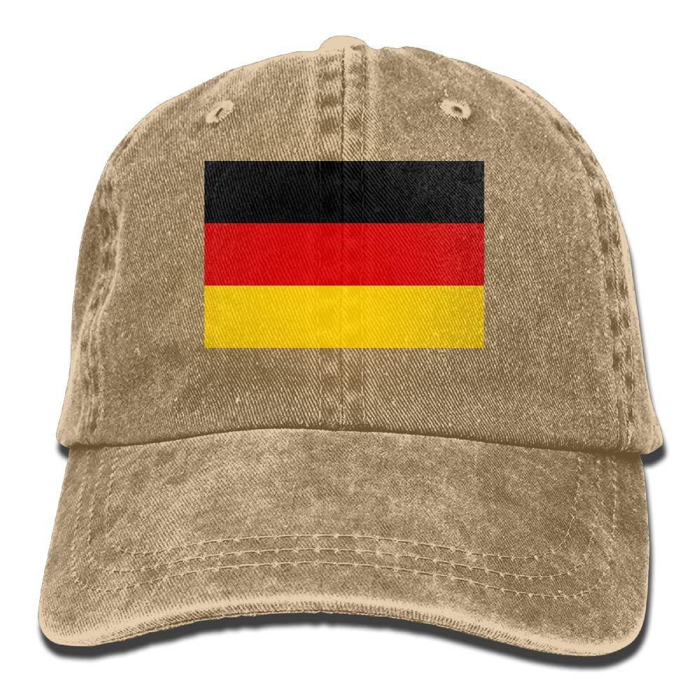 MASDUIH Flag Of Germany Denim Hat Baseball Caps Adjustable Plain Cap