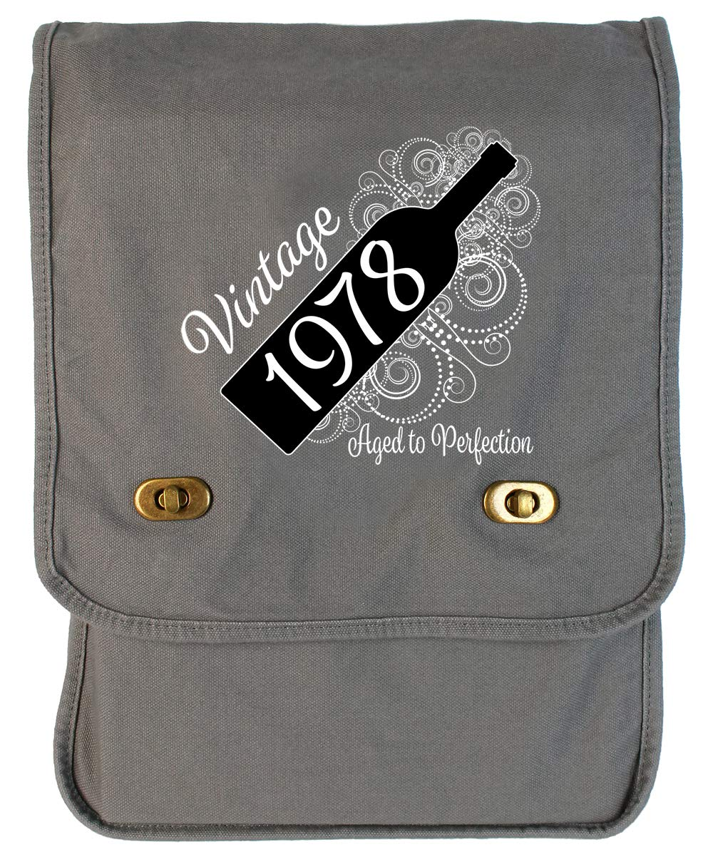 Tenacitee Born in 1978 Aged Like a Fine Wine Maroon Brushed Canvas Messenger Bag