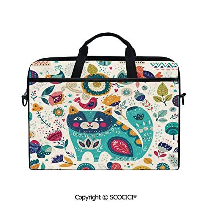 c319b20af541 Amazon.com: Printed Laptop Bags Notebook Bag Covers Cases Cat Figure ...