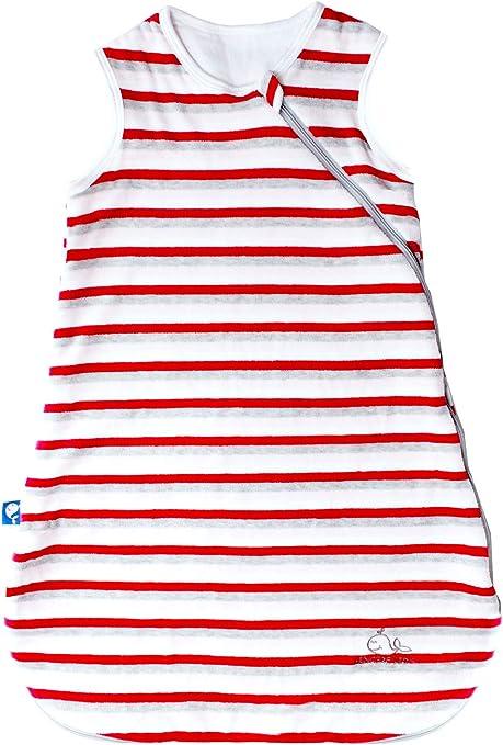 Baby Infant Striped Swaddle Sleeping Sack Bag Wearable Blankets Tog1.5 Grey//L