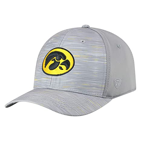 newest db07f f9cf9 Image Unavailable. Image not available for. Color  Top of the World Iowa  Hawkeyes Tow Gray Hyper Memory Fit Hat Cap