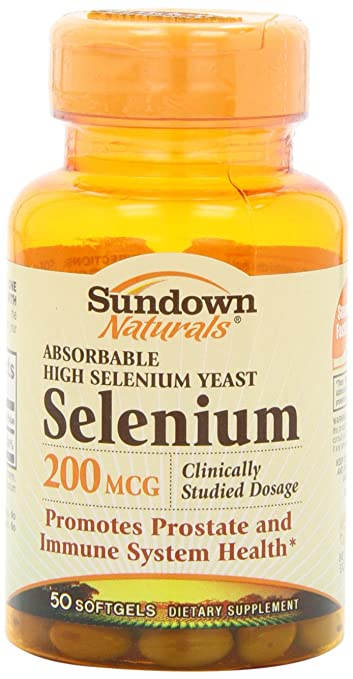 Sundown Naturals Absorbable Selenium 200 Mcg Softgels, 50 Count