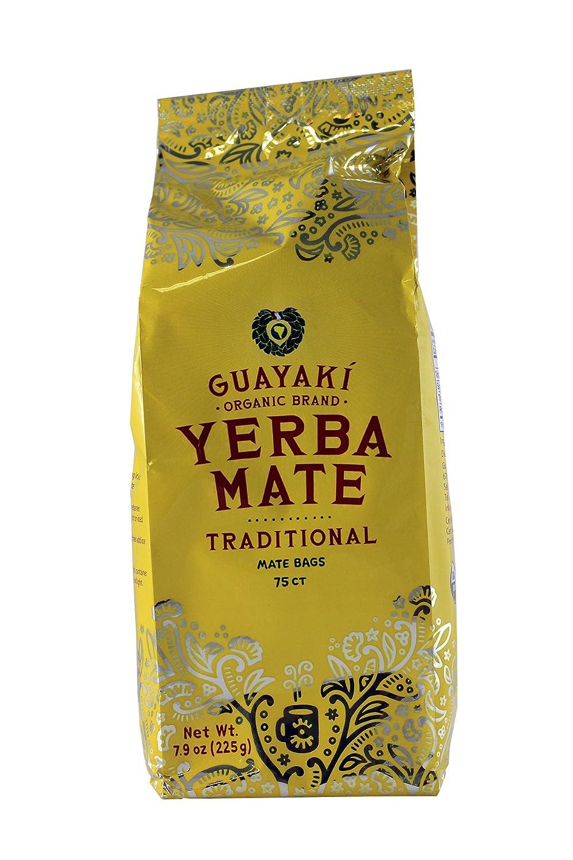 Guayaki Traditional Yerba Mate, 75 Tea Bags7.9oz (Pack of 2)