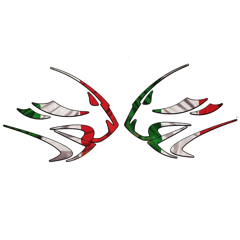 Aprilia Leones cabezal Bandera italiana dise/ño pegatinas dibujos x 2 Grande