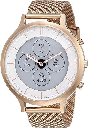 Fossil Women's 42MM Charter HR Heart Rate Stainless Steel Hybrid HR Smart Watch