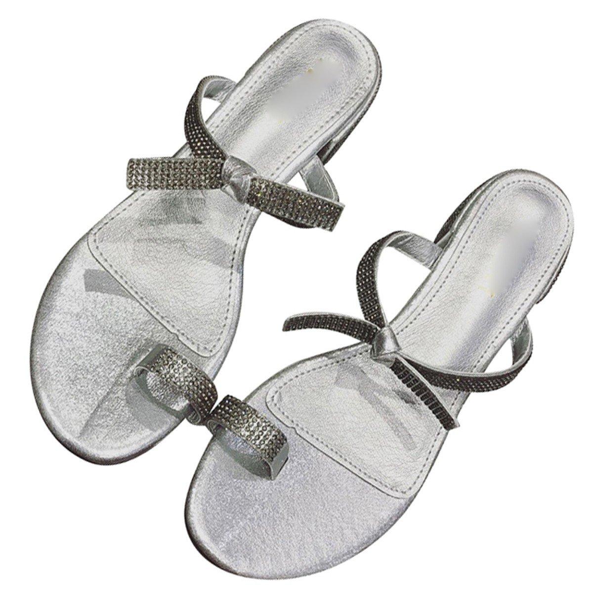 HBDLH-Damenschuhe Eine Riesige Zeh Ein Großspuriger der Schuh Hochhackigen Schuh Ein Sexy Mode Diamanten und Einen Bogen.