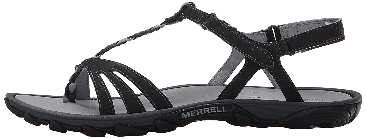3cc4715fc0c8 Soft microfiber lining. Dual density ethylene vinyl acetate anatomical  footbed. Merrell air cushion in the heel absorbs shock and adds stability