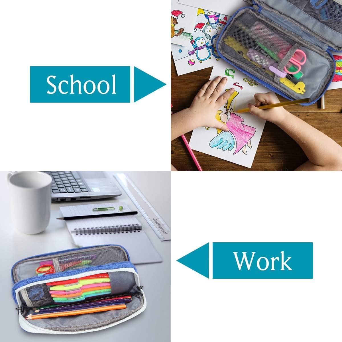 Rose Trousse Papeterie de Bureau /Étui en Stylo en Polyester /Étui pour Crayon Sac pour Organisateur /à Crayon Vaschy Trousse