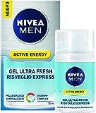 Nivea Men Active Energy, Gel Viso Ultra Fresh Risveglio Express, 50 ml