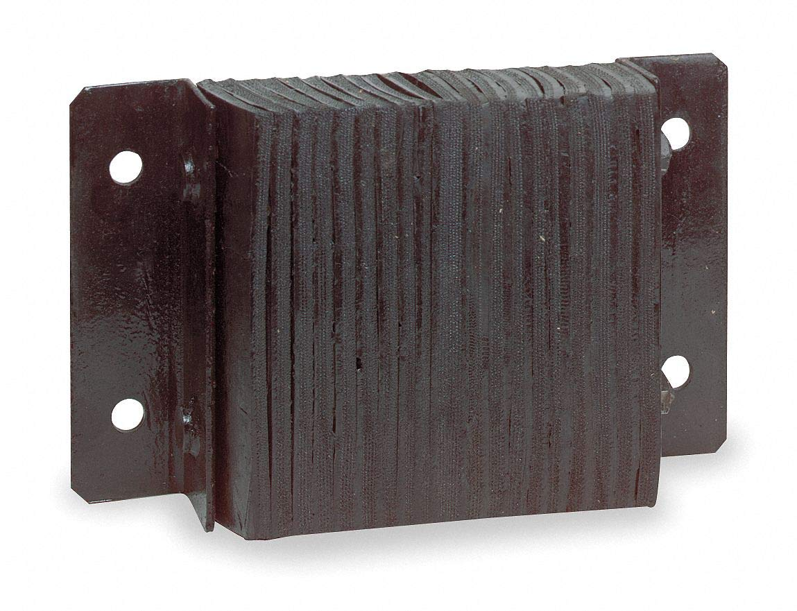 Rectangular Laminated Rubber Dock Bumper, 6''H x 38''W x 4-1/2''D by Unknown (Image #1)