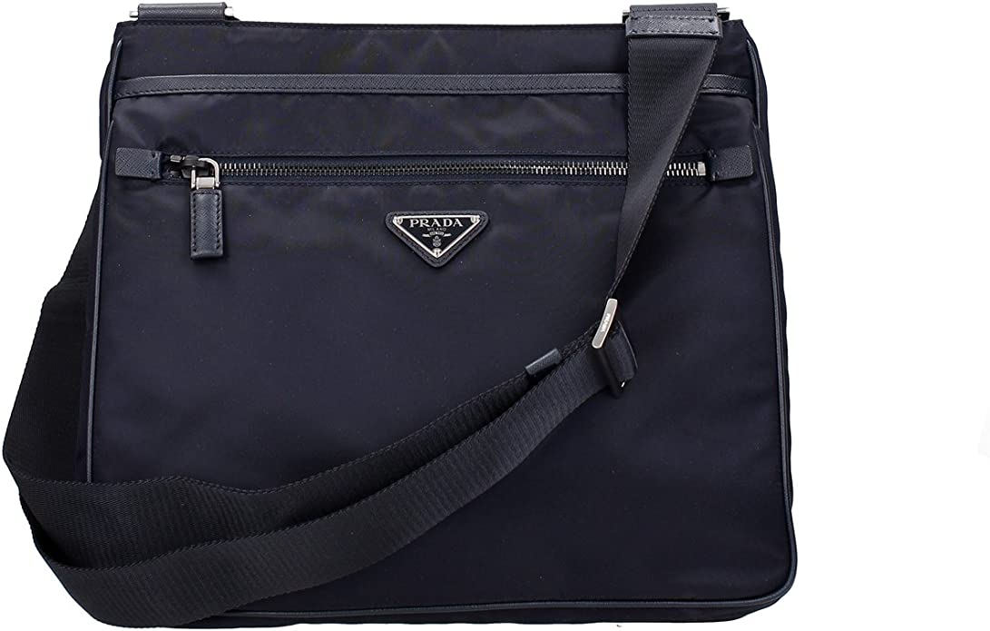 Prada Borse a Tracolla Uomo Nylon (2VH251BLEU): Amazon.it