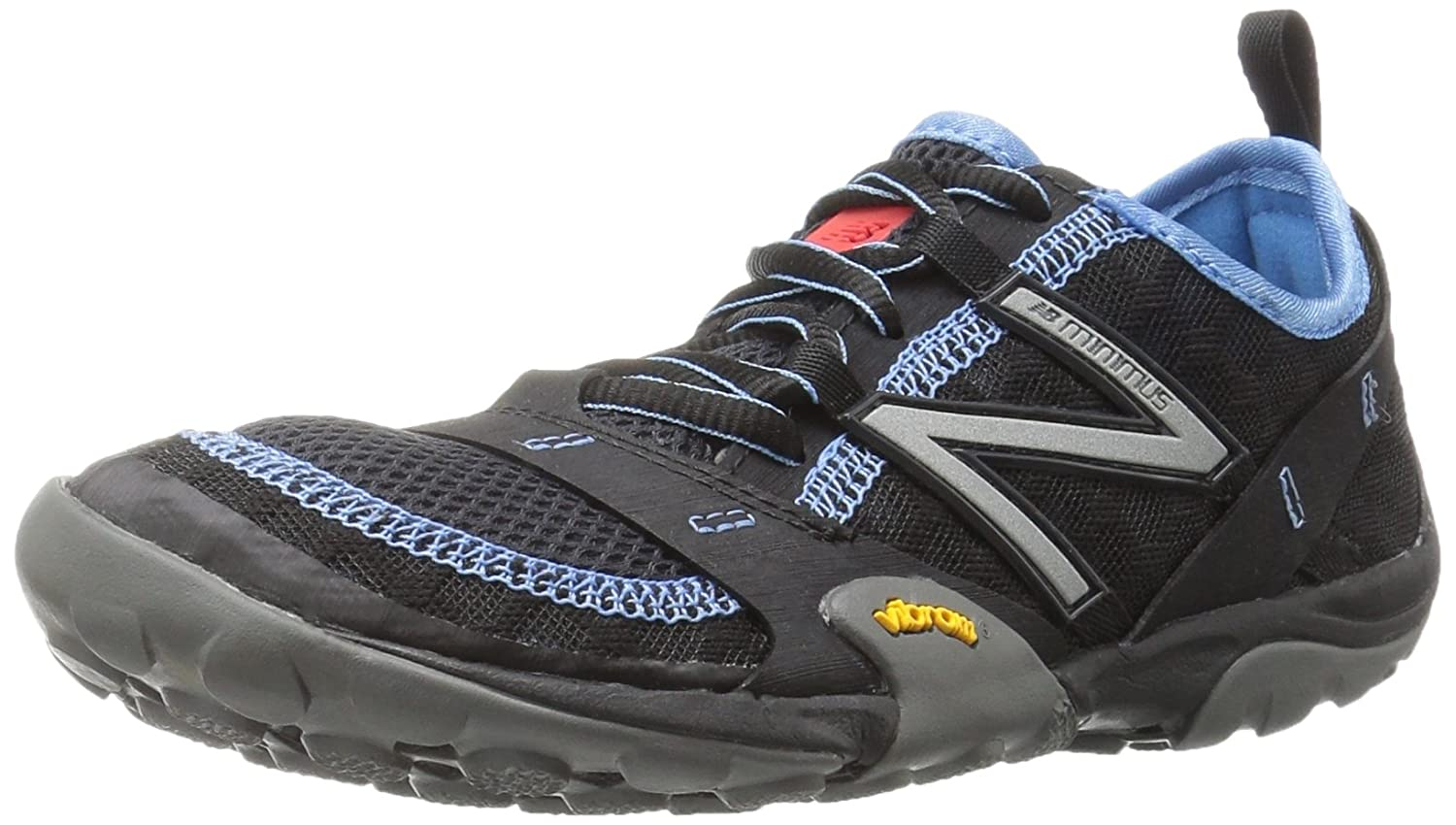 New Balance Women's WT10v1 Minimus Trail Running Shoe B01FSITNTM 11 D US|Black/Blue