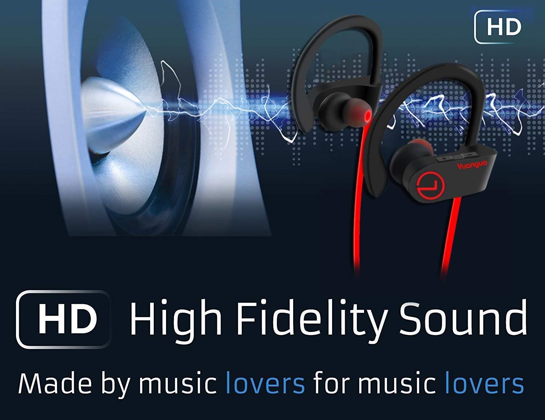 8fd0822762 Auriculares Bluetooth 4.1 Inalambricos Yuanguo Cascos Deportivos In Ear  Sonido Estéreo con Micrófono y Cancelación de Ruido CVC 6.0 &Tecnología  APTX ...
