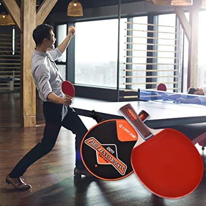 wonderfulwu Table Tennis Bat, Single Training Table Tennis Bat Ping Pong Paddle With Carry Case