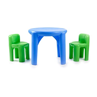Little Tikes Bright 'n Bold Table & Chairs, Green/Blue: Toys & Games