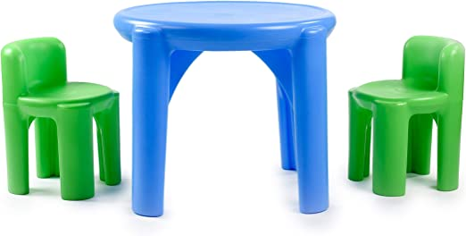 Little Tikes Bright \'n Bold Table & Chairs, Green/Blue