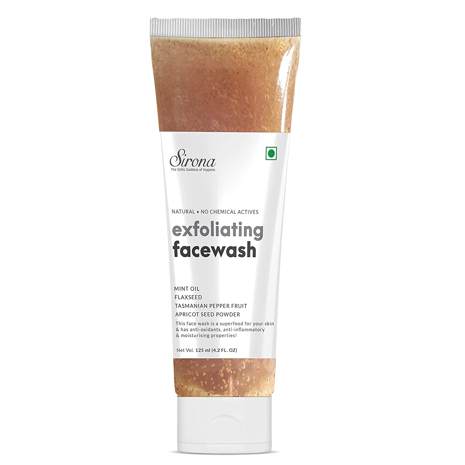 Sirona Natural Exfoliating Face Wash Facial Cleaner With