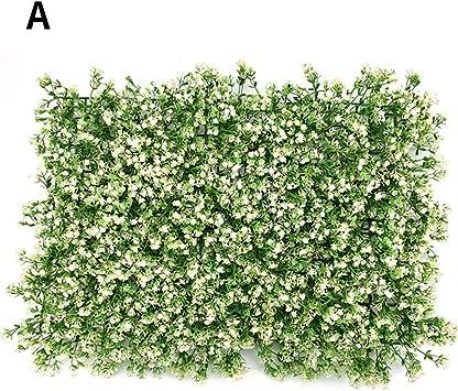 Paneles de plantas artificiales, falso girasol, césped, paneles de plantas verdes, paneles de plantas falsas, cubiertas de paredes para jardines exteriores al aire libre: Amazon.es: Bricolaje y herramientas