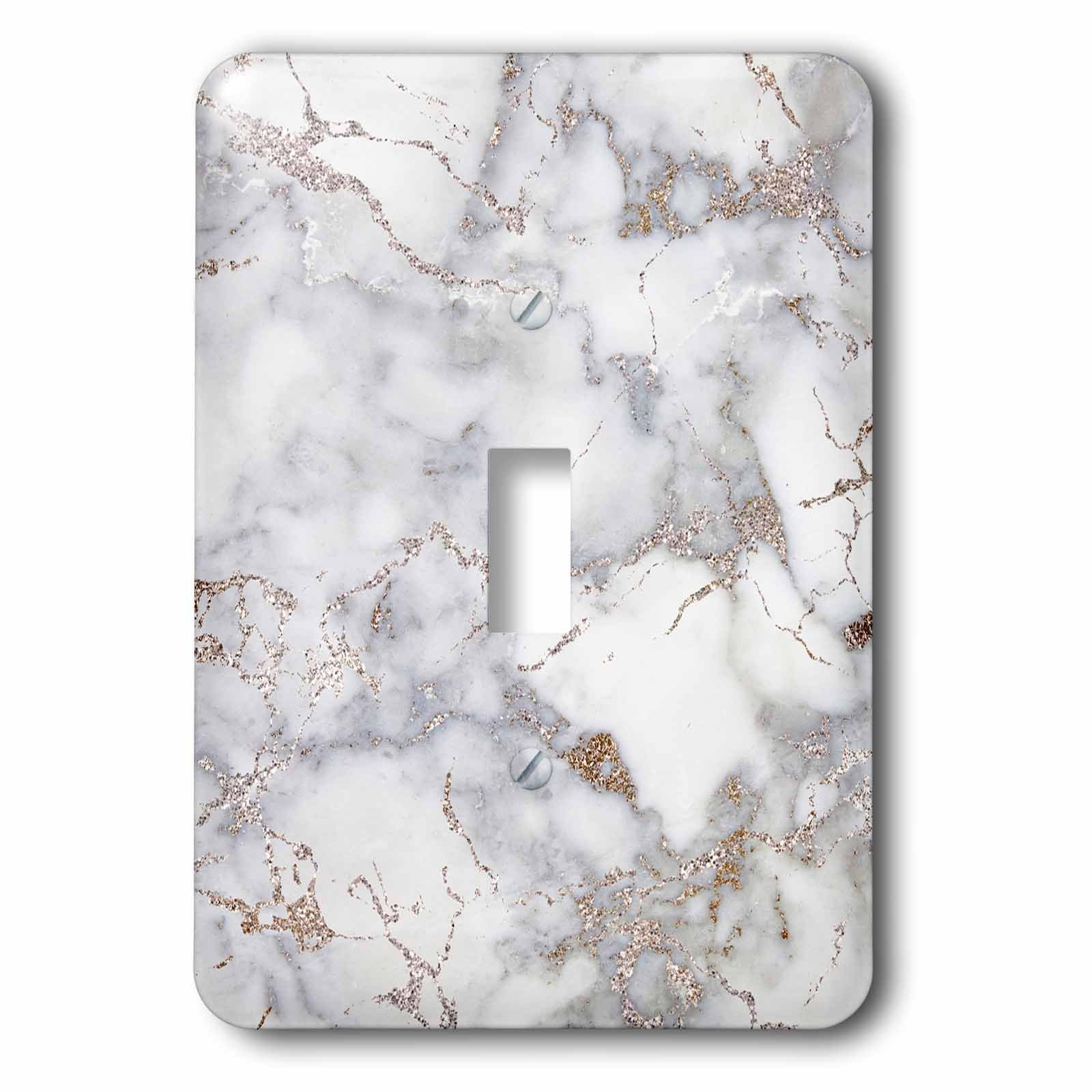 3dRose lsp_275085_1 Image of Luxury Trendy Rose Gold Blush Glitter Marble Agate Quartz Toggle Switch, Mixed