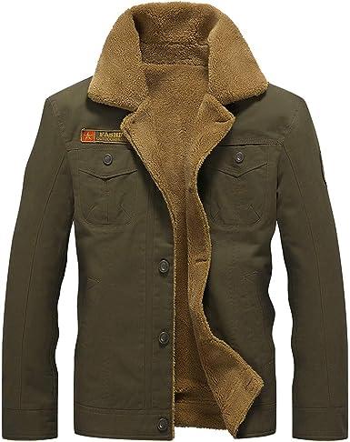 Sunwarm outerwear 2018 Winter Jacket Men Air Force Pilot MA1 Jacket Warm Male Fur collarMens Fleece Jackets