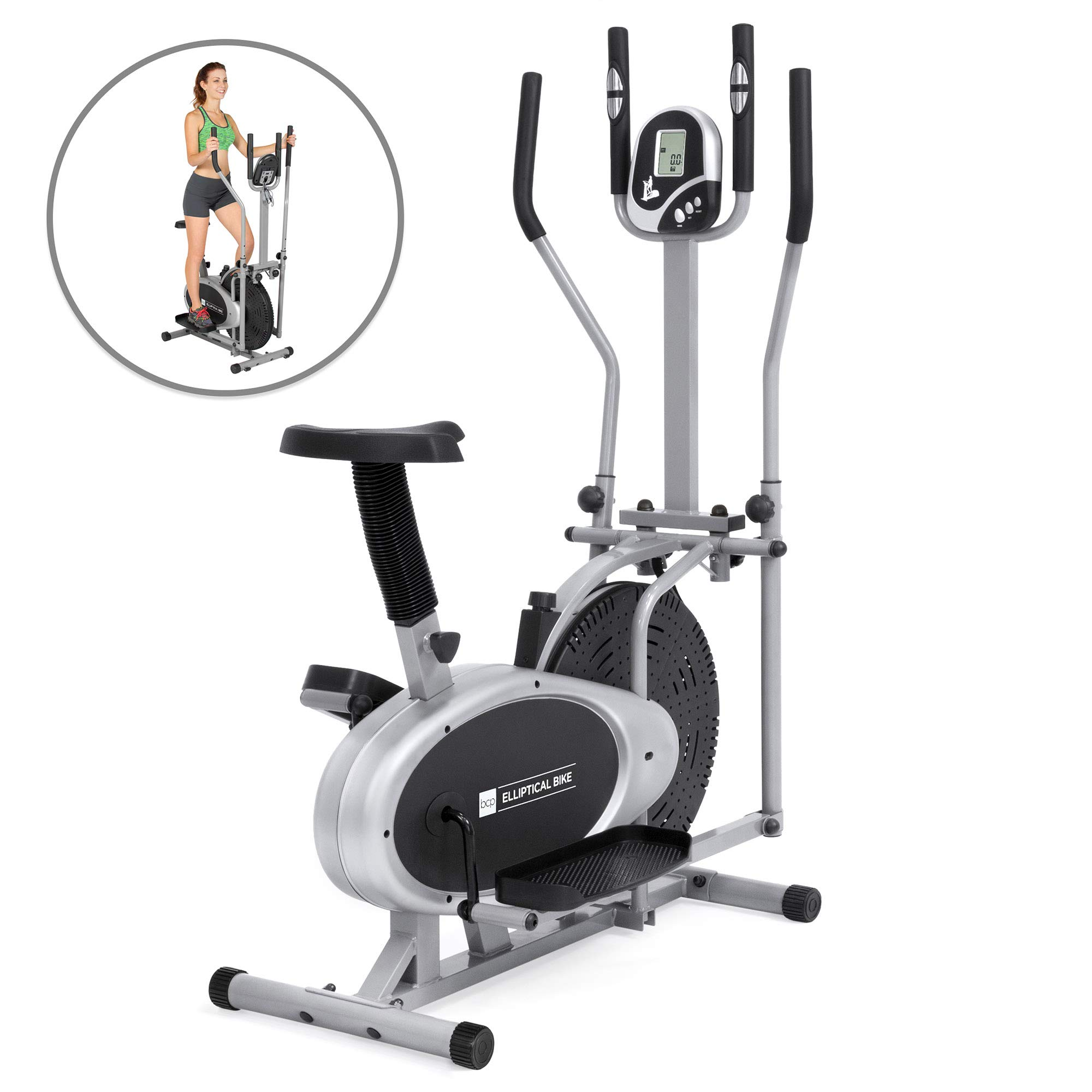 Elliptical Bike 2 IN 1 Cross Trainer Exercise Fitness Machine Upgraded Model by Best Choice Products (Image #1)
